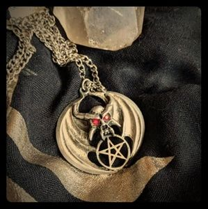 Jewelry - Gothic Winged Demon Pentacle